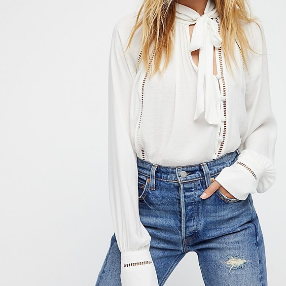 0647b38e9307d Free People Tops - Free People Wishful Moments Tie Front Top